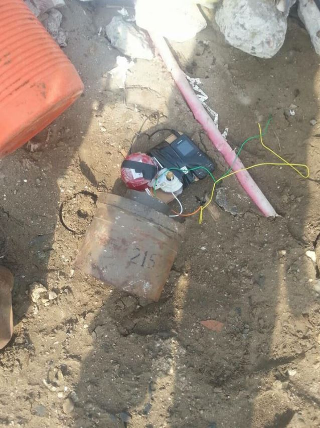 IED planted near a mosque attended by security leaders in Khormaksar #Aden rendered safe by Special Security Forces. #SouthYemen #Yemen (3)