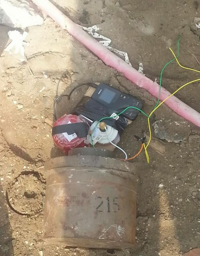 IED planted near a mosque attended by security leaders in Khormaksar #Aden rendered safe by Special Security Forces. #SouthYemen #Yemen (4)