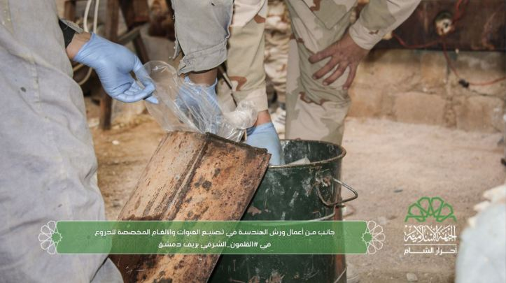 Ahrar al-Sham engineers manufacturing IEDs for use against regime buses and vehicles behind enemy lines (2)