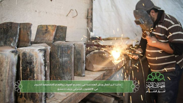 Ahrar al-Sham engineers manufacturing IEDs for use against regime buses and vehicles behind enemy lines (3)