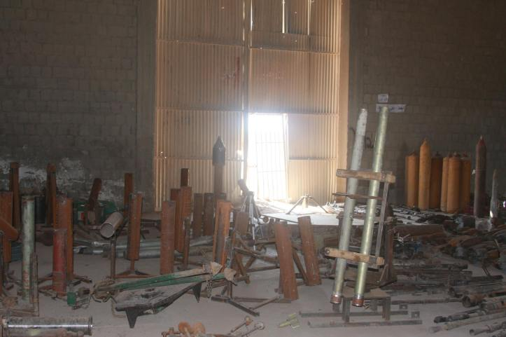 Found the largest factory to manufacture bombs and rockets in Fallujah (13)