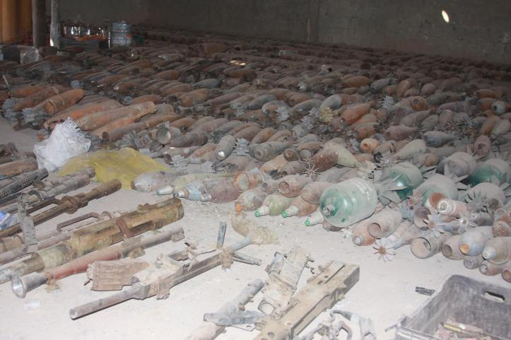 Found the largest factory to manufacture bombs and rockets in Fallujah (14)