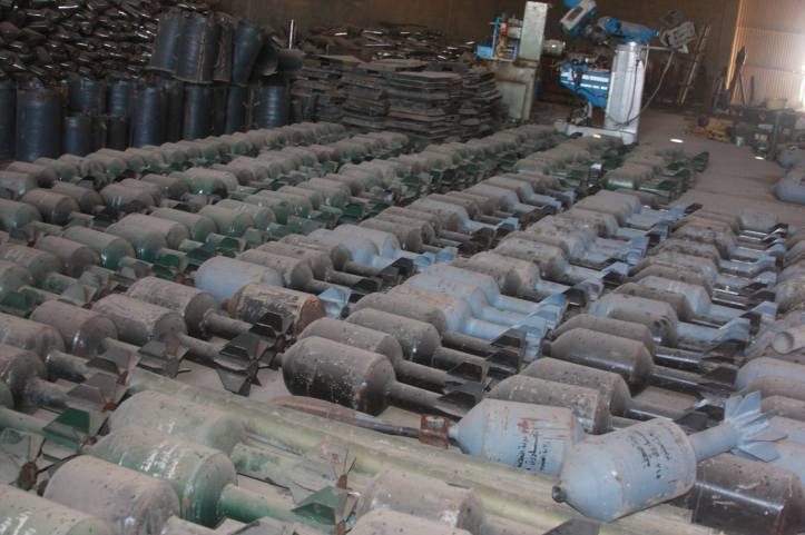 Found the largest factory to manufacture bombs and rockets in Fallujah (2)