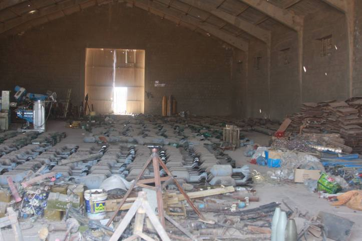 Found the largest factory to manufacture bombs and rockets in Fallujah (28)