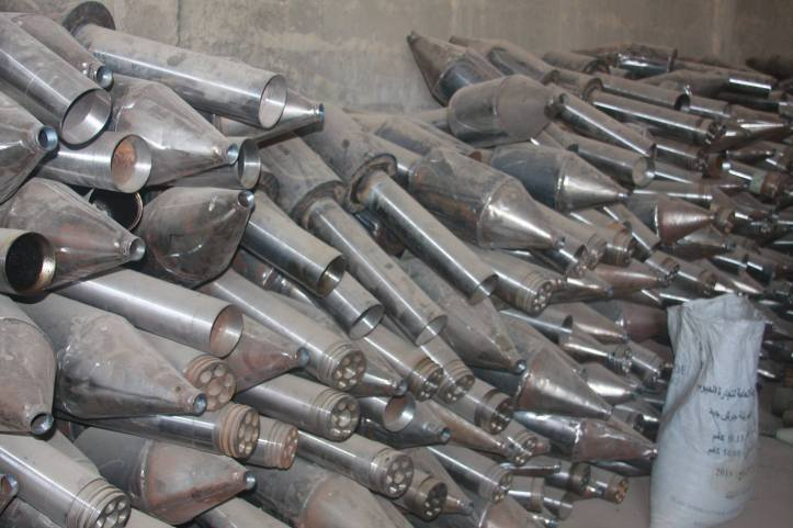 Found the largest factory to manufacture bombs and rockets in Fallujah (7)