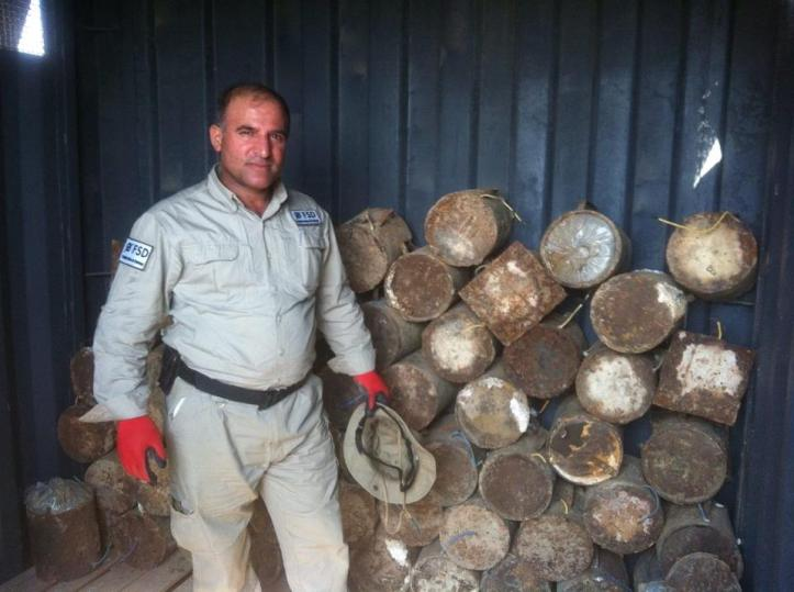 Islamic State-made IEDs collected and destroyed by Mine action group in #Iraq (2)