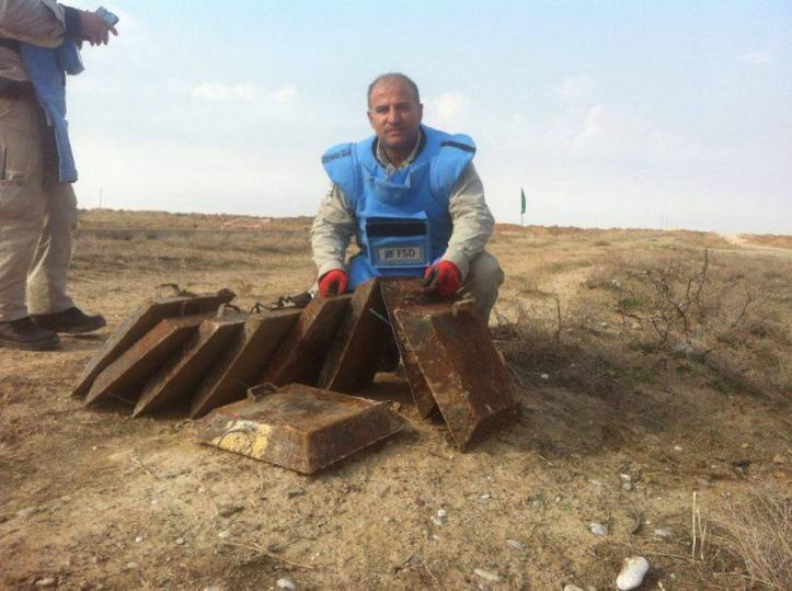 Islamic State-made IEDs collected and destroyed by Mine action group in #Iraq (3)