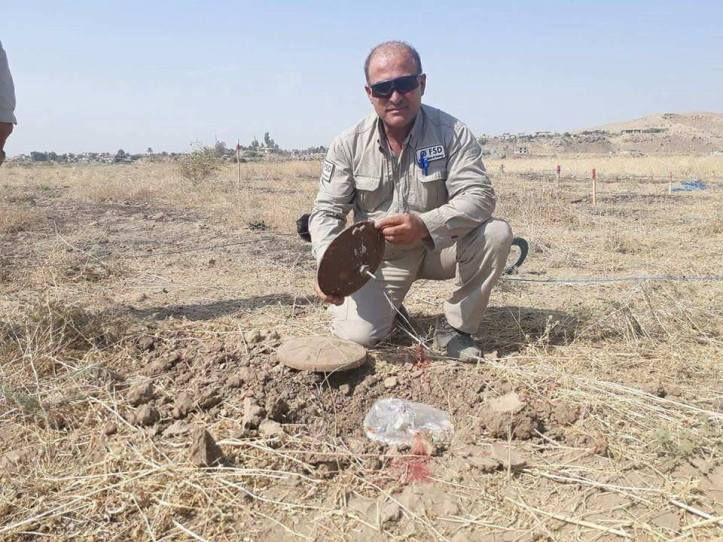 Islamic State-made IEDs collected and destroyed by Mine action group in #Iraq (4)