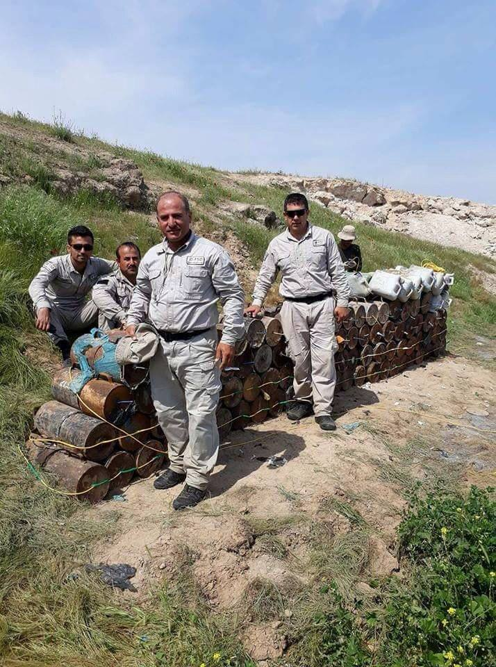 Islamic State-made IEDs collected and destroyed by Mine action group in #Iraq (5)