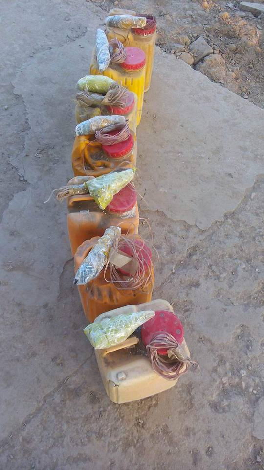 Engineer Bashir - recently discovered these IED COMPONENTS from Parwan province. (1)