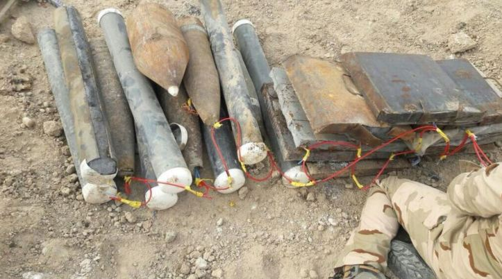 Explosives seized in E Anbar, Karma district dec 26 2017 (1)