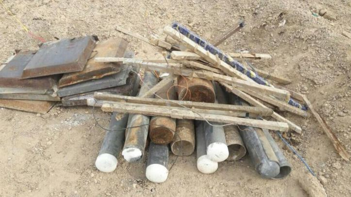 Explosives seized in E Anbar, Karma district dec 26 2017 (2)