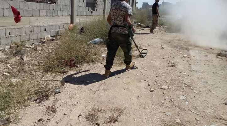 #IED rendered safe in a big de-mining effort yesterday in #Benghazi, #Libya (2)
