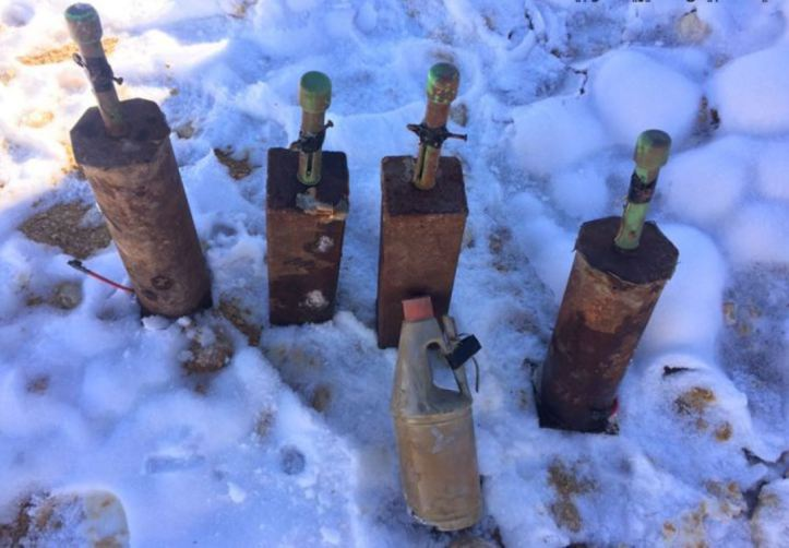 Lebanese authorities recently found and destroyed these IEDs in Tal Khalaf, the Beqaa Valley.