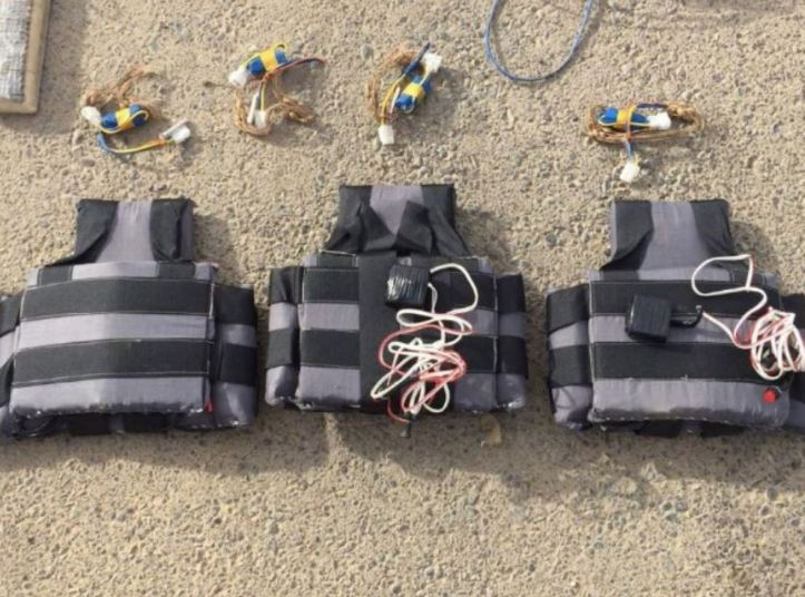 part of a large explosives cache seized by PMUs west of Tikrit (3)3