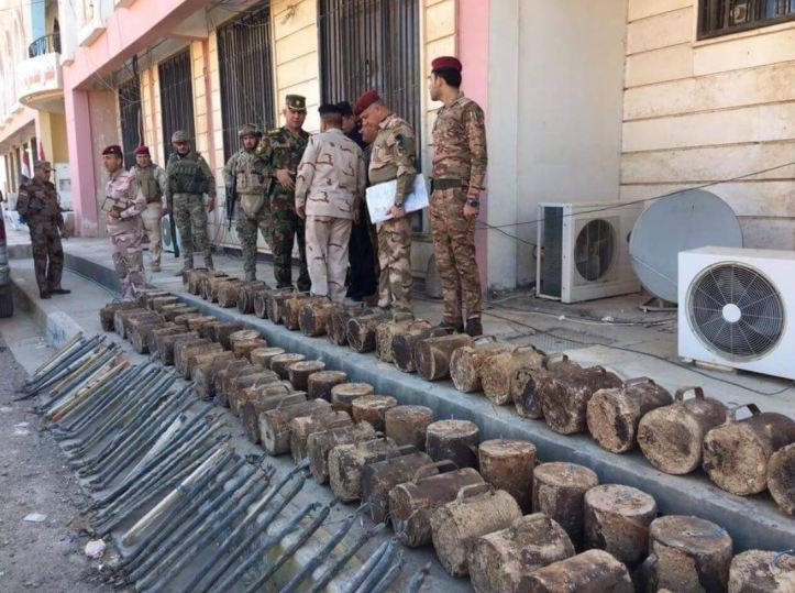 Samarra's Intelligence and Counter Terror departments carried out a raid on December 2nd seizing 77 explosive containers, 57 detonators, and 45 pressure plates