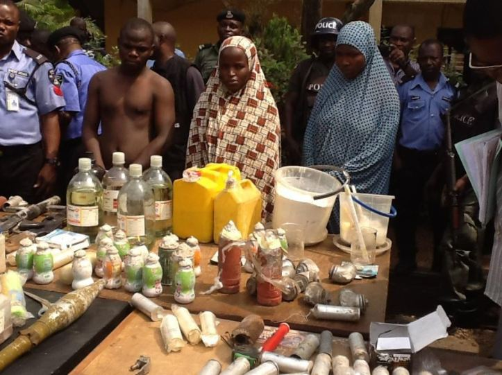 Edo Police uncover bomb factory, parade suspects, recover IEDs (2)