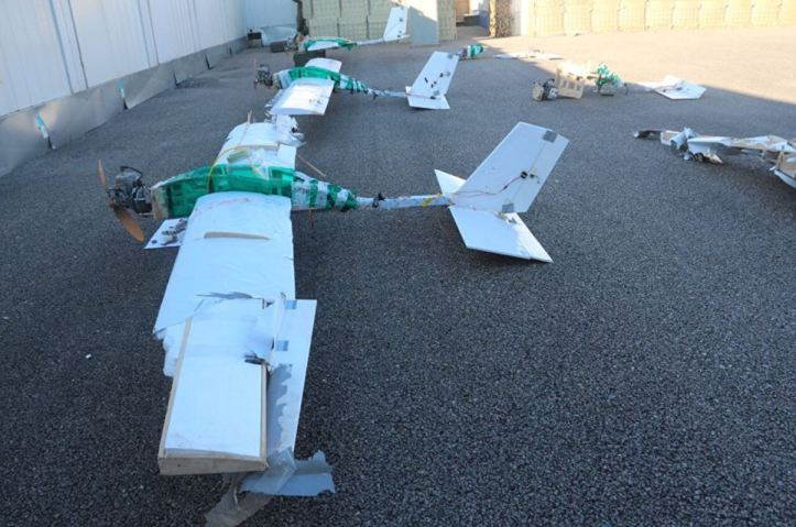 New pic from Russian MoD of remains of that insurgent #drone 'swarm' that attacked airbase in Syria.