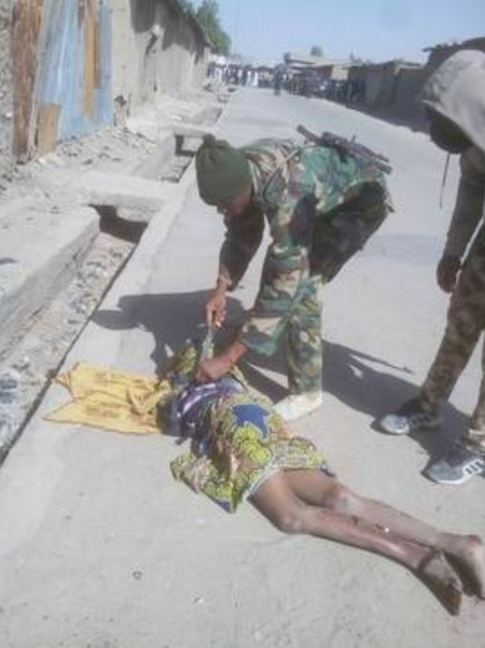 Three Female Suicide Bombers Intercepted In Gamboru Town, Borno State. Two killed after refusing to remove their IED vests, one held for interrogation. (2)