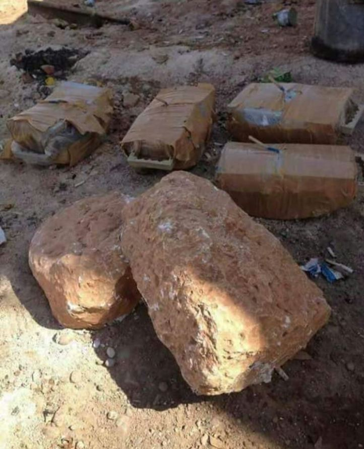 IEDs captured near Tall Al Hajar, Syria (1)