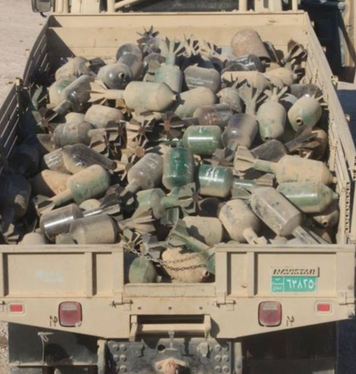 rockets, IEDs and 'Hell Cannon' mortars have been recovered near #Fallujah (1)