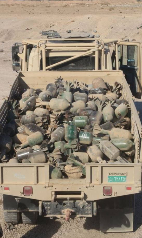 rockets, IEDs and 'Hell Cannon' mortars have been recovered near #Fallujah (2)