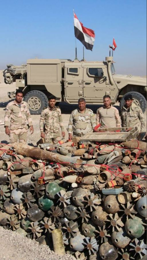 rockets, IEDs and 'Hell Cannon' mortars have been recovered near #Fallujah (3)
