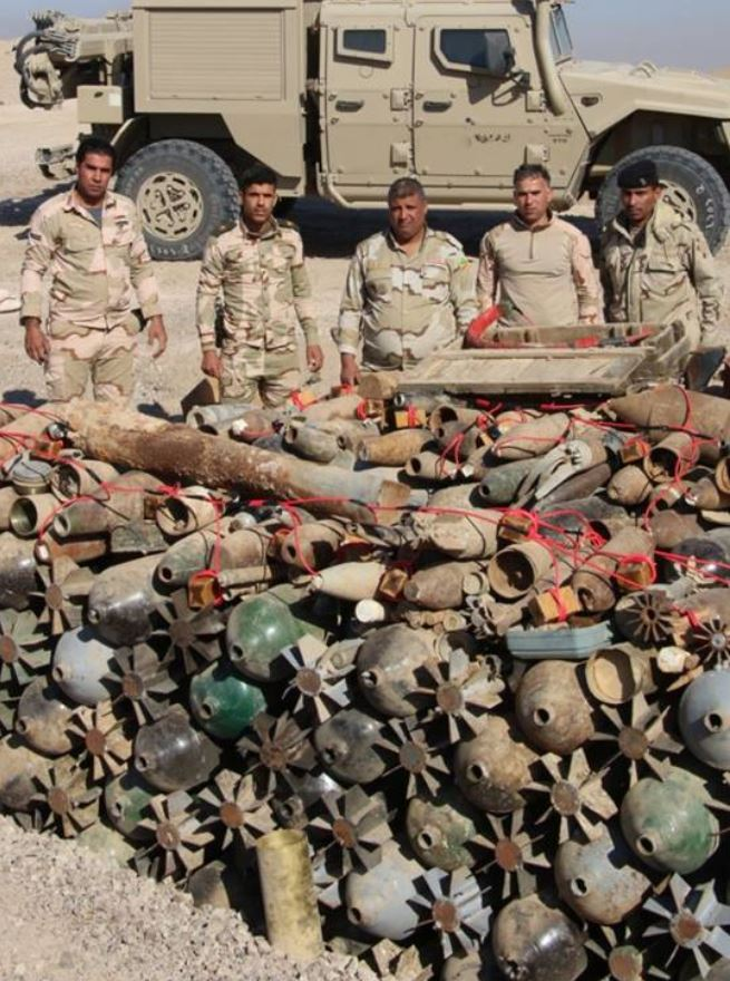rockets, IEDs and 'Hell Cannon' mortars have been recovered near #Fallujah (4)