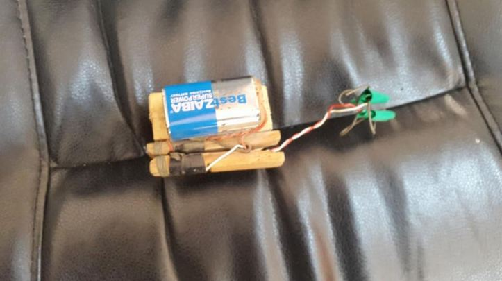 Some recent clothes peg-based victim-operated #IED triggers firing switches recovered in #Benghazi, #Libya (3)