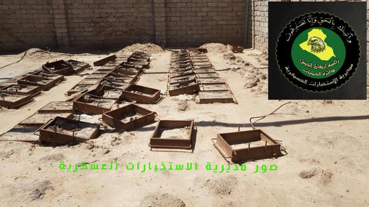 Iraqi security forces recently discovered an IED and mortar round factory in the al-Shura area south of #Mosul (3)