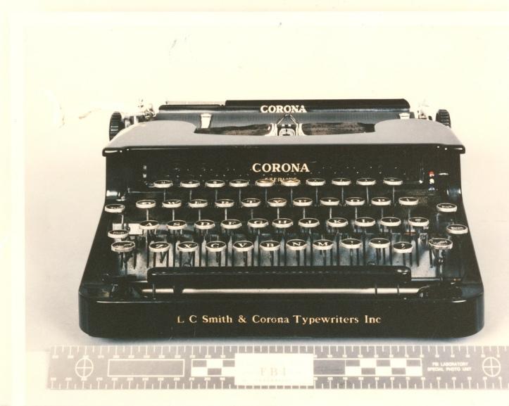 unabomb Kaczynski_Typewriter