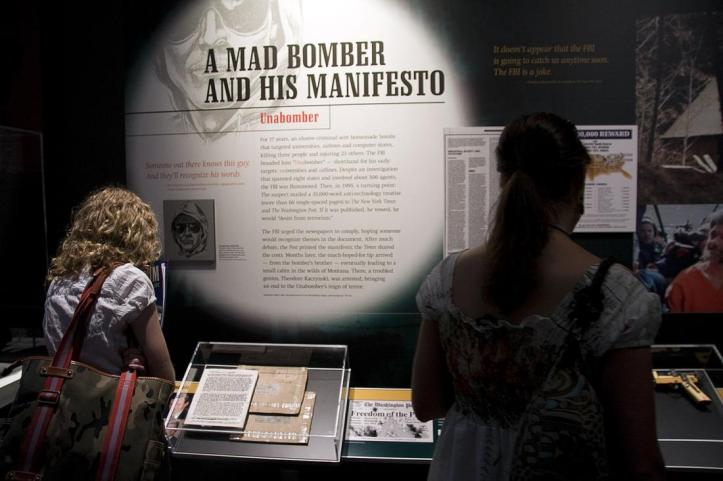 Unabomber-objects-to-museum-exhibit