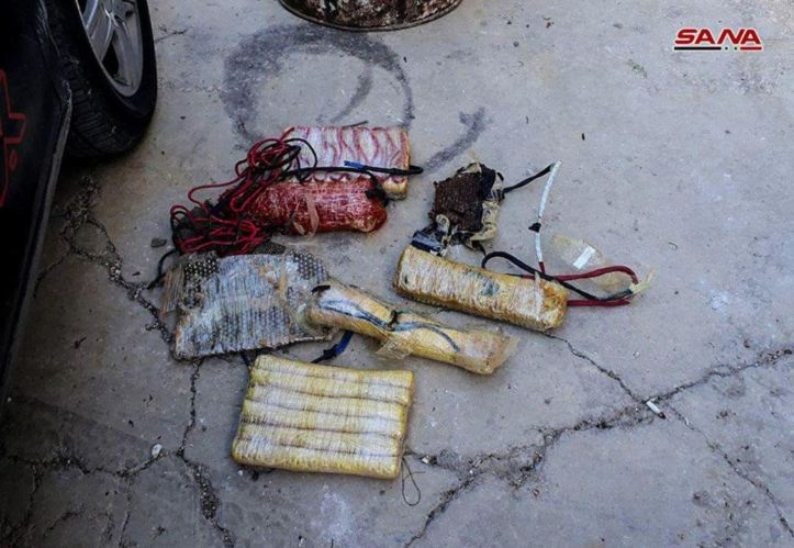 SyrianArmy seizes explosives belts, bombs, ammunition and communication equipment with the terrorists evacuated from east #Qalamoun (1)